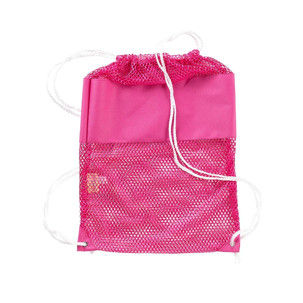 Hot Pink Mesh Backpack