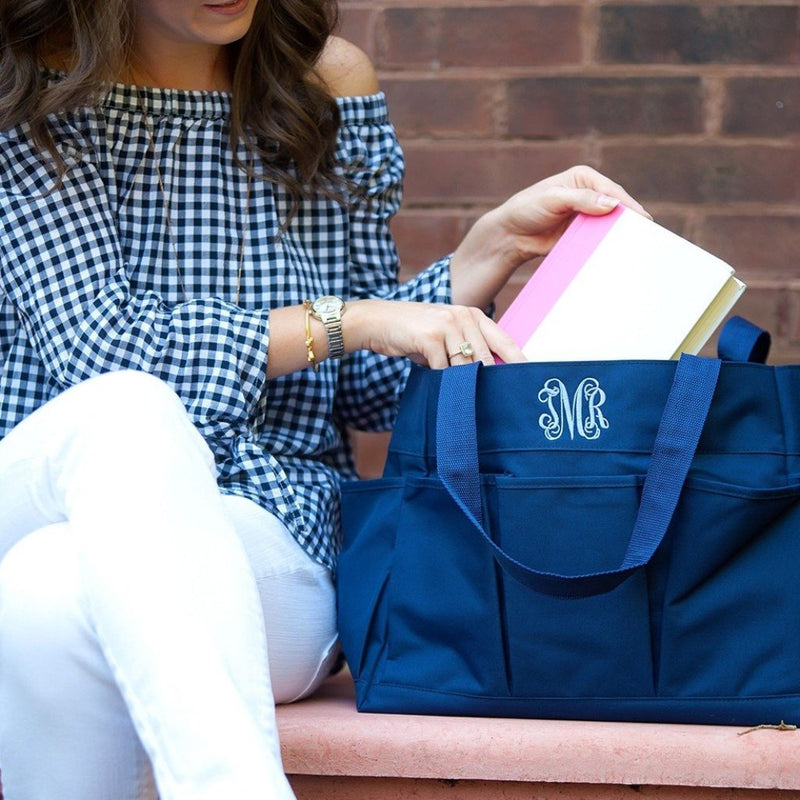 kkgivingtree - Navy Carry All Bag - K&K's Giving Tree - Monogram it