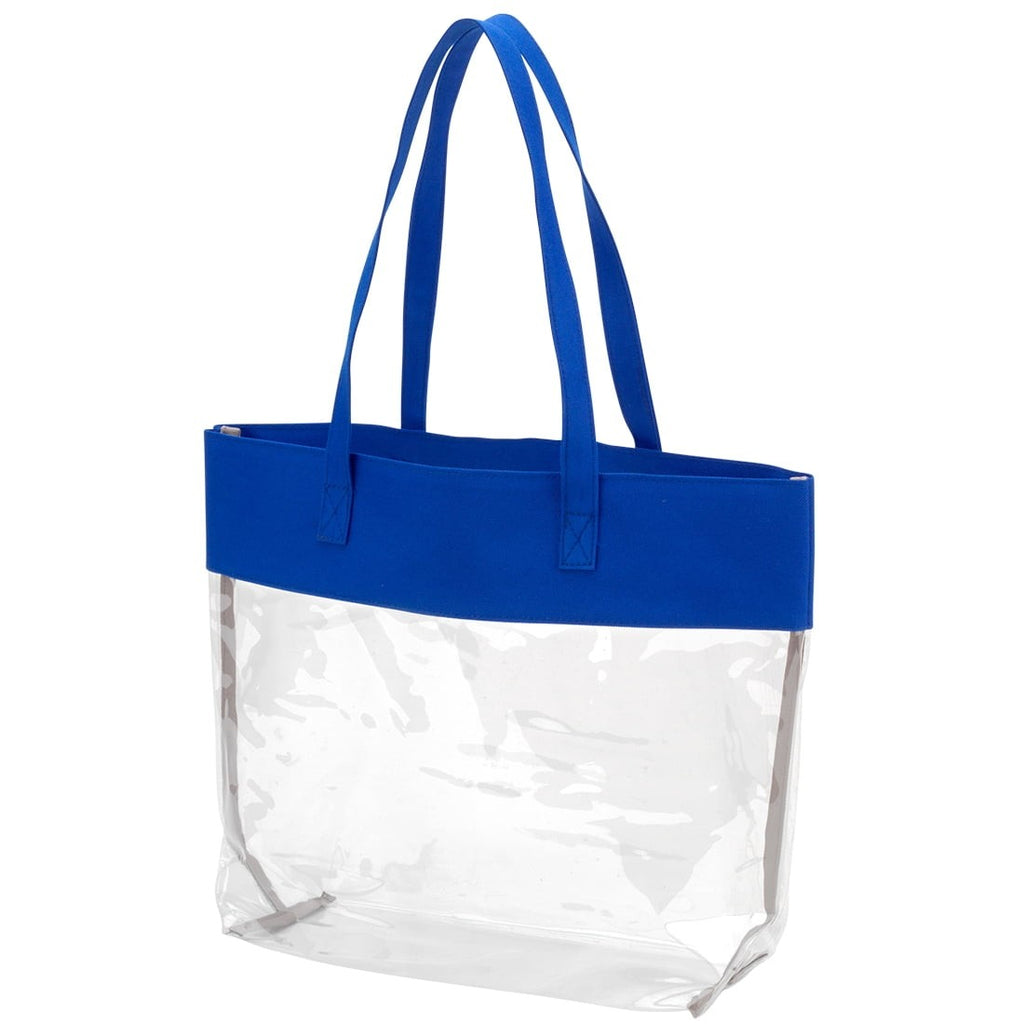 Royal Blue Clear Tote
