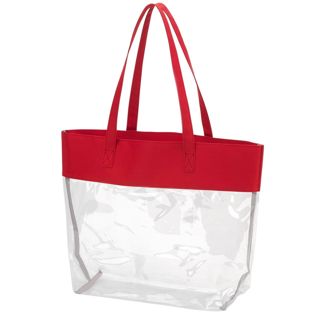 Red Clear Tote
