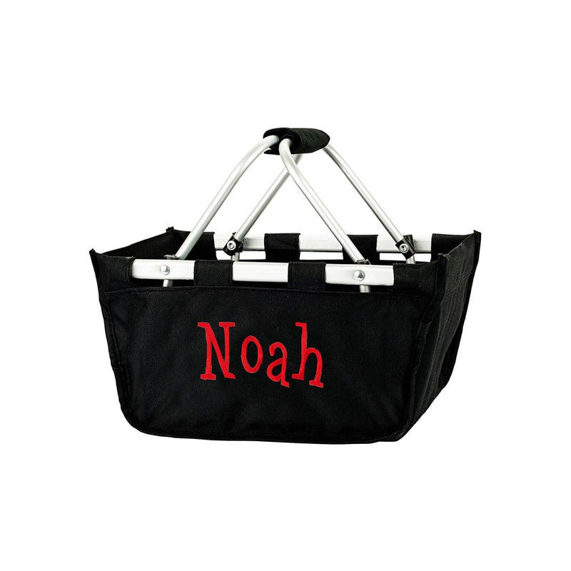 Black Mini Market Tote - Personalize it - K&K's Giving Tree