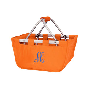 Orange Mini Market Tote - Personalize it - K&K's Giving Tree