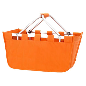 Orange Market Tote - Versatile and folds flat for easy storage