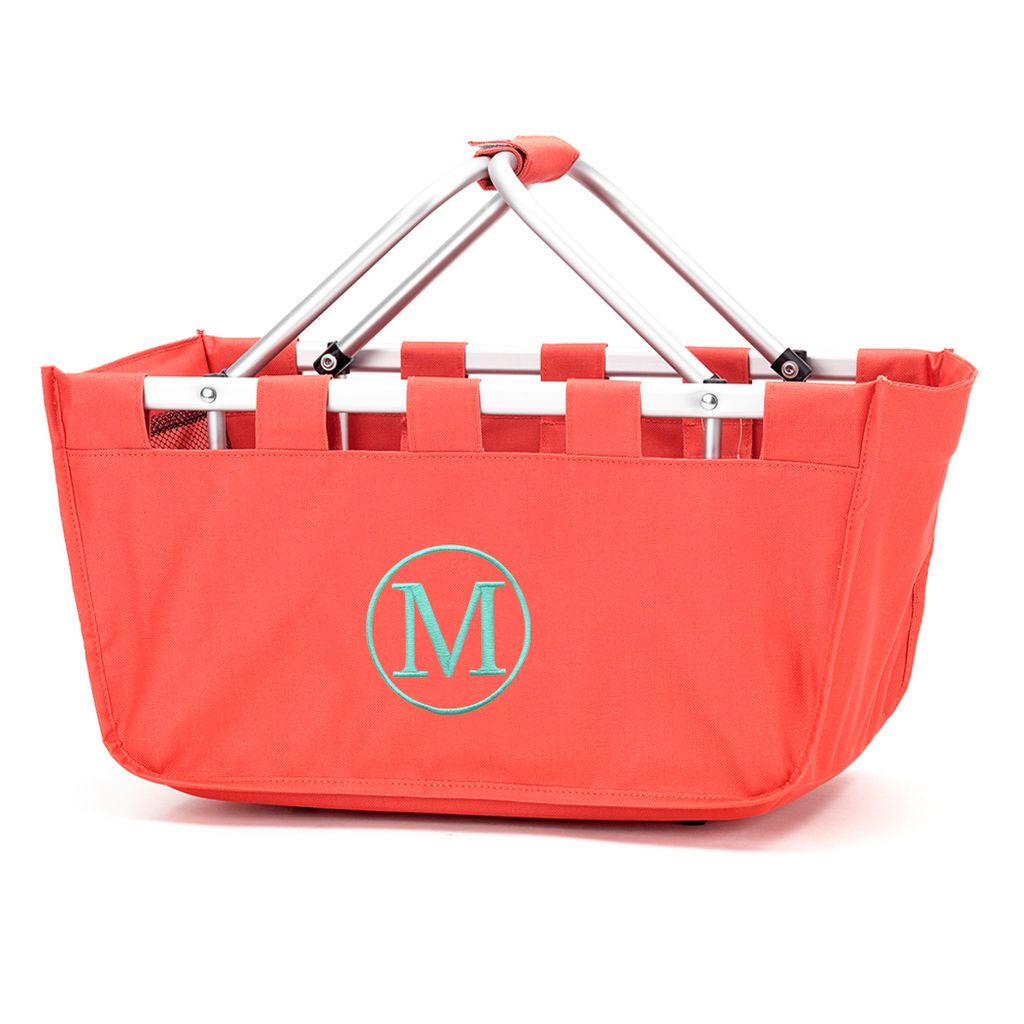 Coral Market Tote - Perfect for Monogramming!