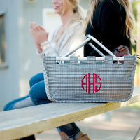 Houndstooth Market Tote - Great for Game Day!