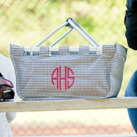 Houndstooth Market Tote - The ultimate versatile tote!