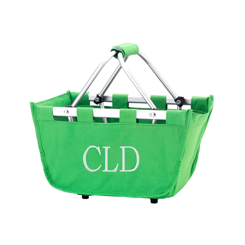 Green Mini Market Tote - Monogram Options Available - K&K's Giving Tree