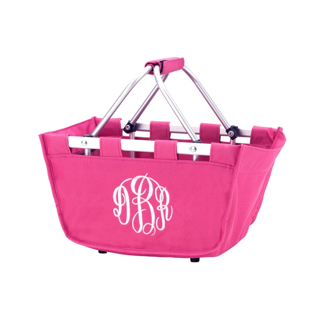 Hot Pink Mini Market Tote - Personalize it - K&K's Giving Tree