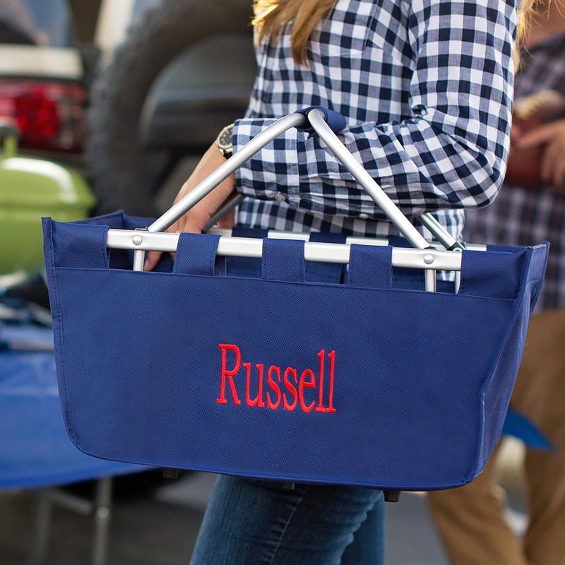 Navy Market Tote - Perfect for Game Day essentials!
