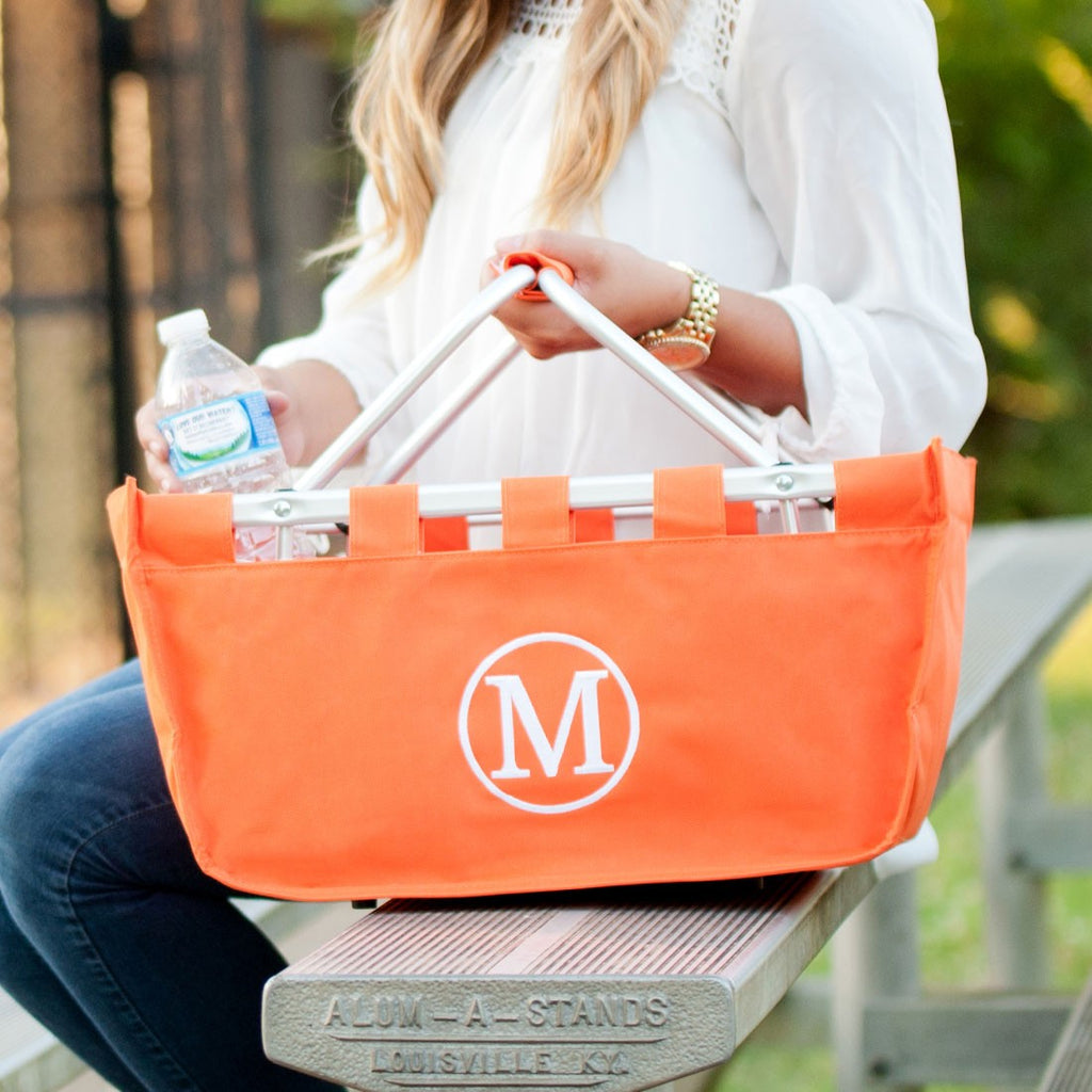 Orange Market Tote - Great for Ballgames!