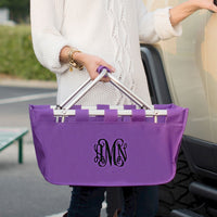 Purple Market Tote - Great for Traveling
