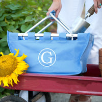 Blue Hydrangea Market Tote - Perfect for the Garden!