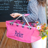 Hot Pink Market Tote - Generously sized for the perfect Carry All Tote!