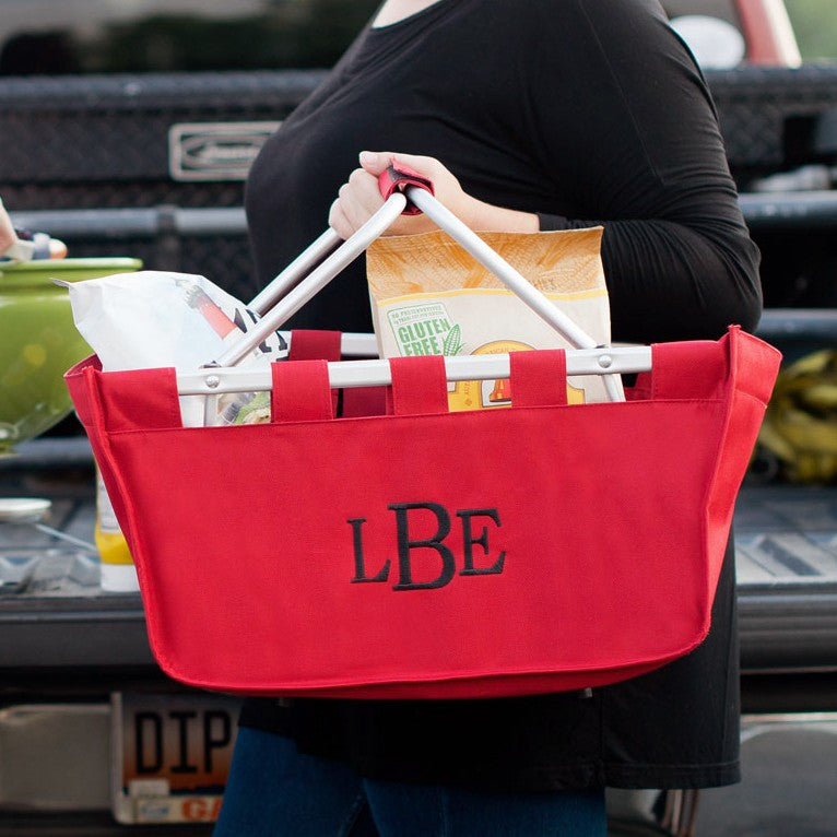 Red Market Tote - Great for Game Day & Cookouts!