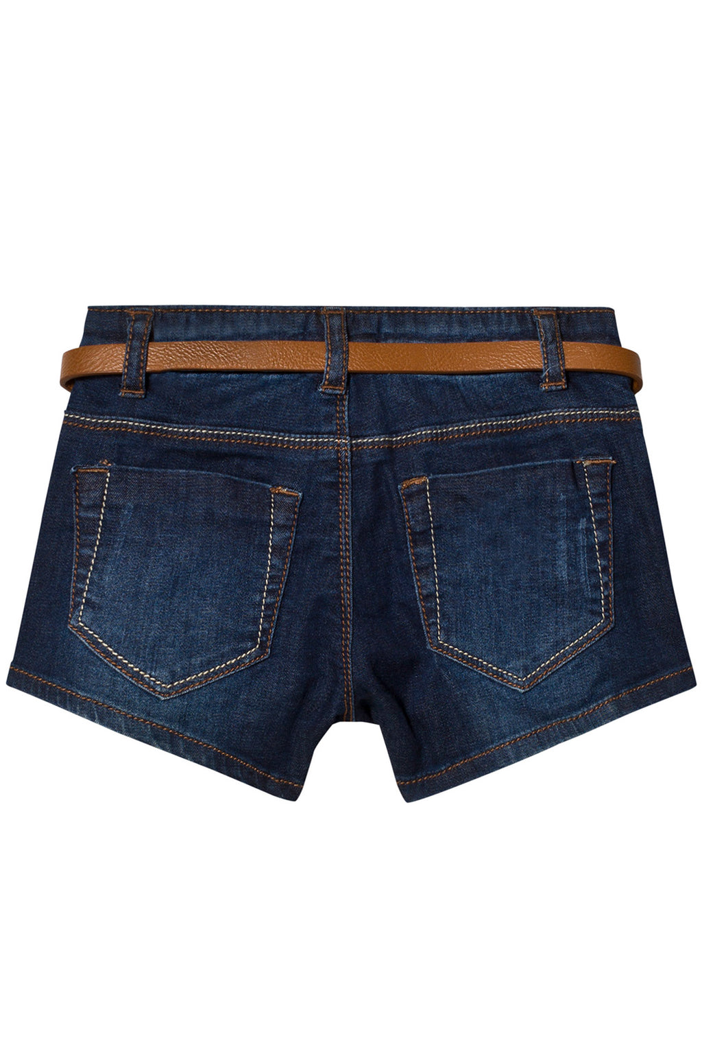 Mayoral - Dark Denim Shorts w/ Gingham Belt - kkgivingtree - K&K's Giving Tree