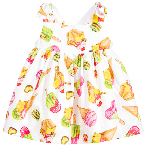 Ice-Cream Print Cotton Dress