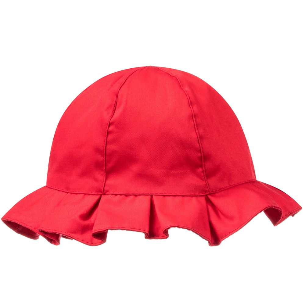 Red Twill Sun Hat