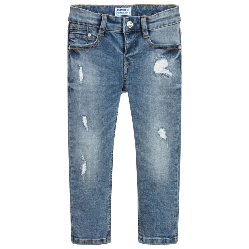 Distressed Loose Fit Denim Jeans