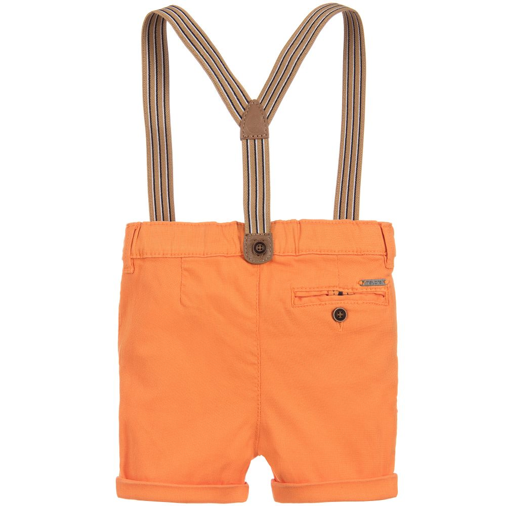 Tiger Orange Shorts with Suspenders