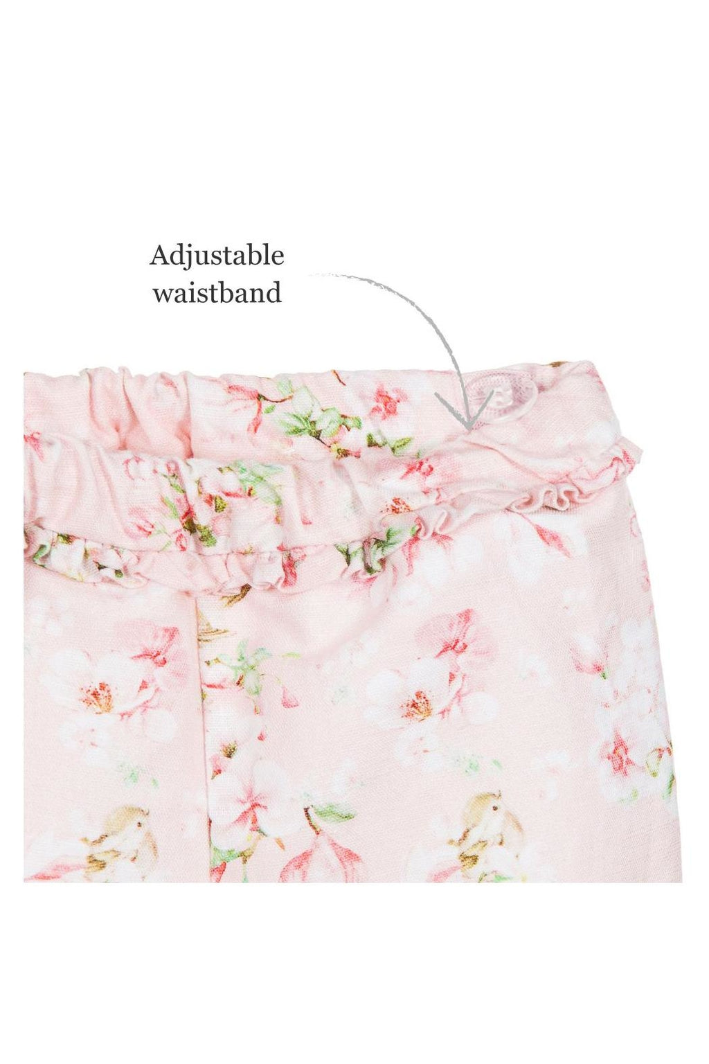 Blouse & Pink Floral 2-Piece Short Set