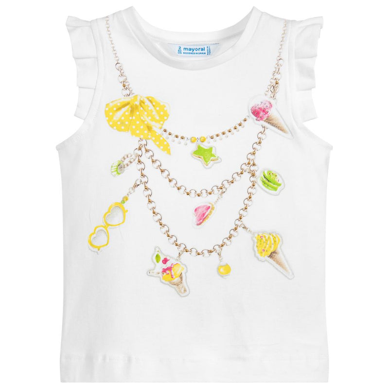 "Ice-Cream Print ""Necklace"" Tank Top"