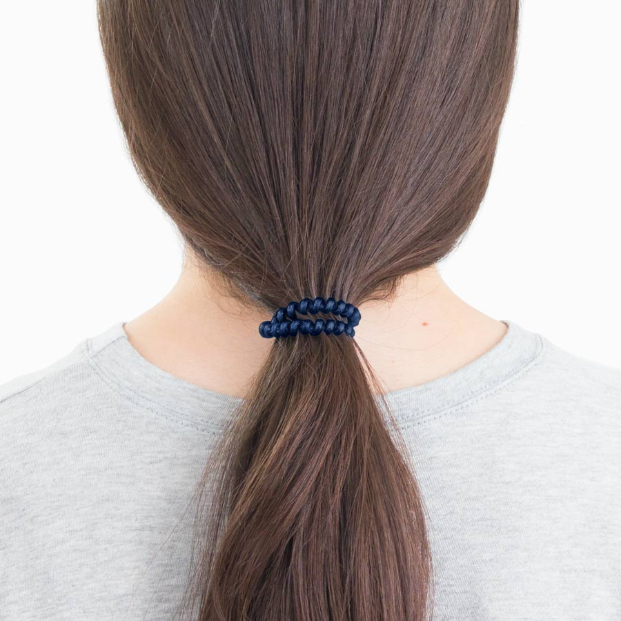 Navy Peony 3-Pack Hair Ties