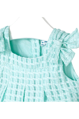 Mayoral - Mini Turquoise Basket-Weave Dress - K&K's Giving Tree - kkgivingtree