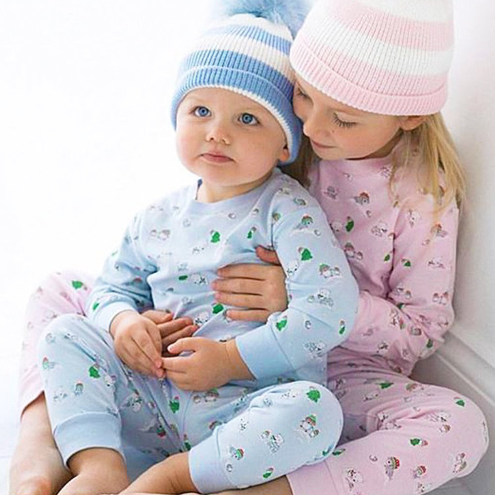 Light Blue Snow Day Pajama Set