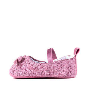 Mauve Knit Mary Jane Shoes