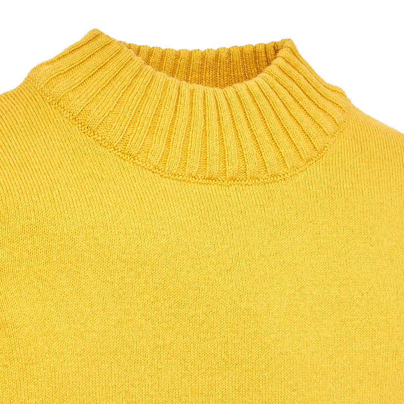 Mustard Mock Turtleneck Sweater