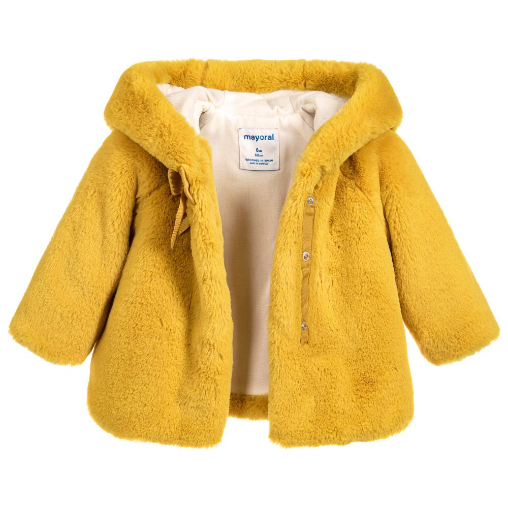 Mustard Faux Fur Jacket