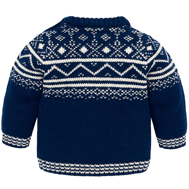 Jacquard Blue Fairisle Sweater