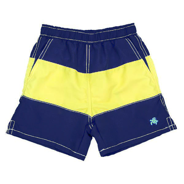 Navy/Yellow Stripe Board Shorts
