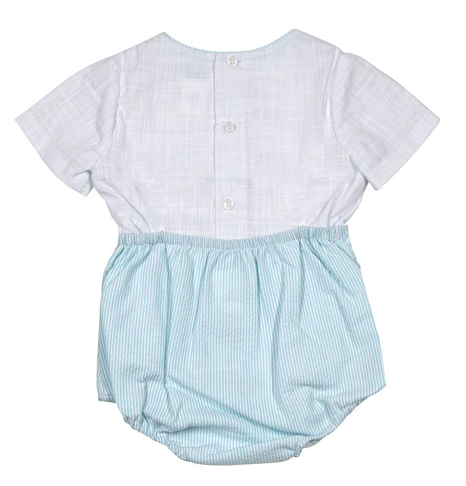 Mint Stripped Boy Set