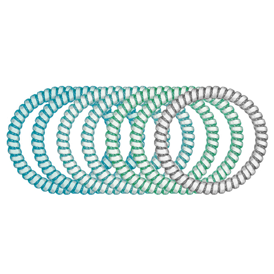 Ocean 7-Pack Hair Ties