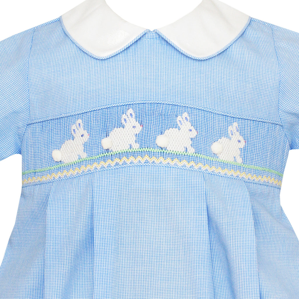 Hop Hop Smocked Bunny Bubble w/ Collar