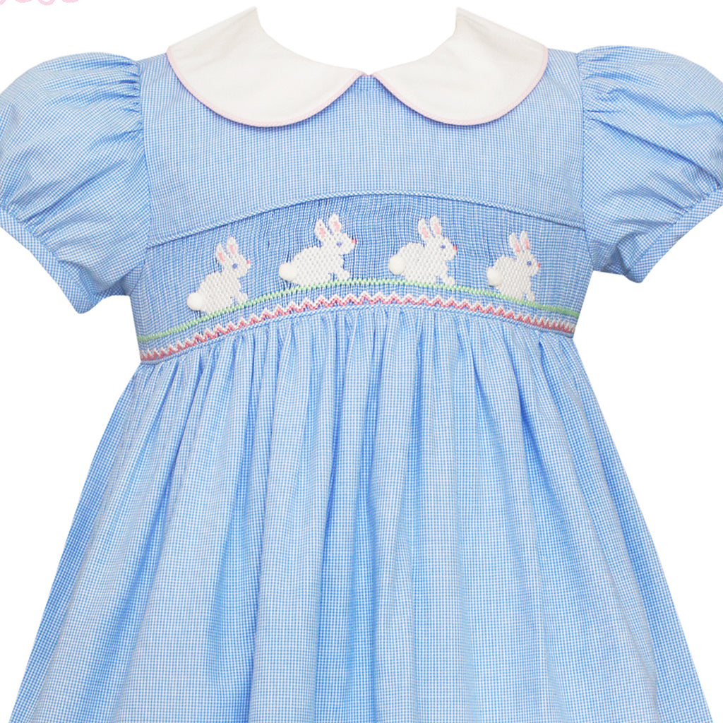 Hop Hop Smocked Bunny Petal Collar Dress