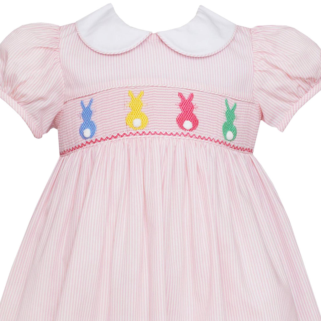 Light Pink Cottontails Smocked Dress w/ Collar