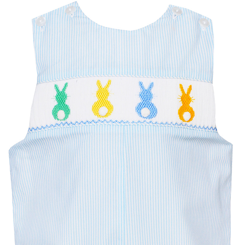 Light Blue Cottontails Smocked John John