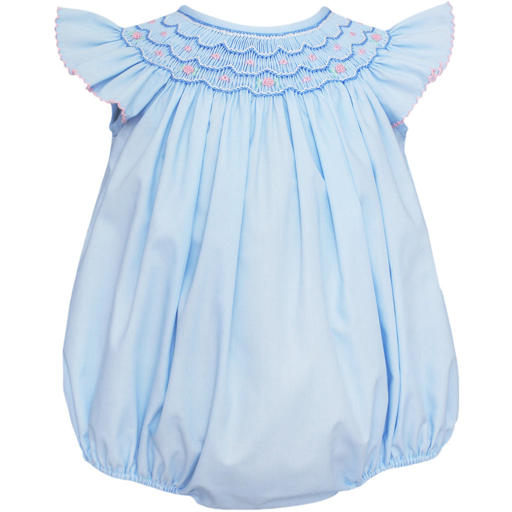 Ava Smocked Angel Wing Bishop Bubble
