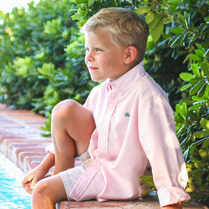 Light Pink Button Down Collared Shirt - Bailey Boys
