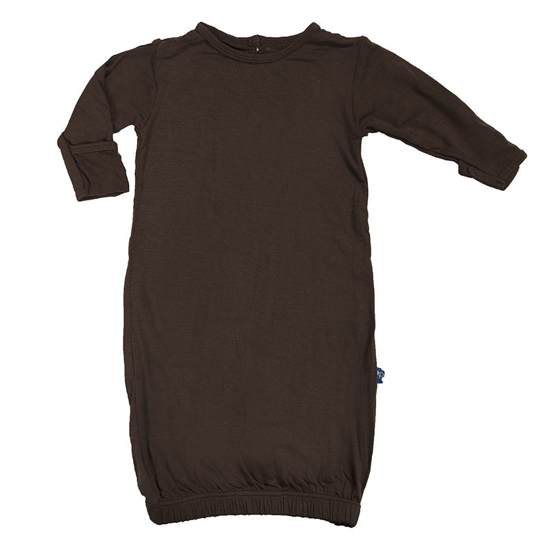 Bark Brown Layette Gown