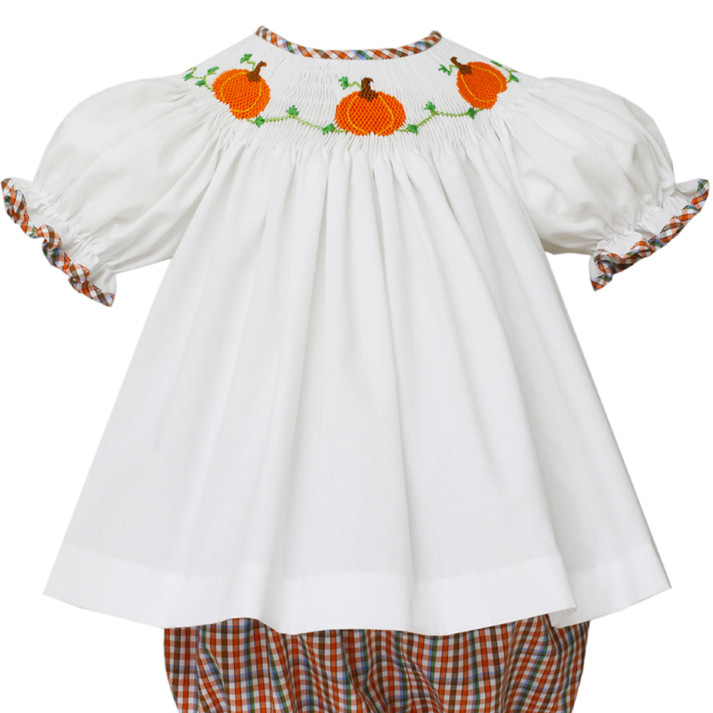 Pumpkin Bishop Blouse Bloomer Set