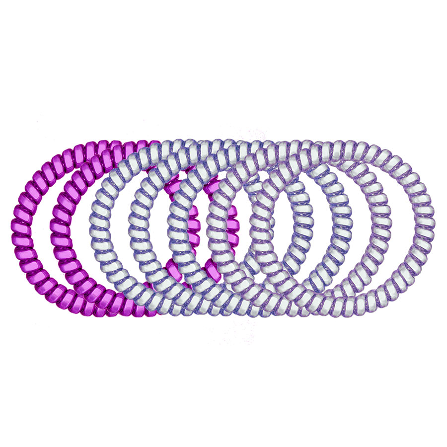 Purple Reign 7-Pack Hair Ties