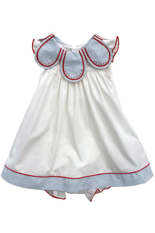 Sophie & Lucas - Seaside Petal Collar Dress w/ Bloomers - kkgivingtree - K&K's Giving Tree
