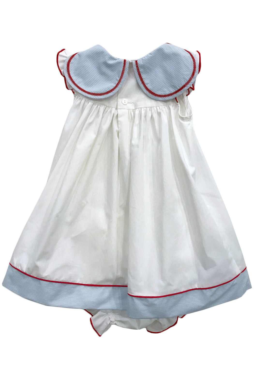Sophie & Lucas - Blue Stripe Petal Collar Dress w/ Bloomers - kkgivingtree - K&K's Giving Tree