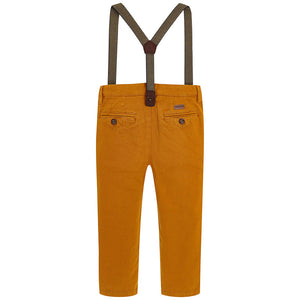 Mayoral Rust Chino Trousers with Suspenders