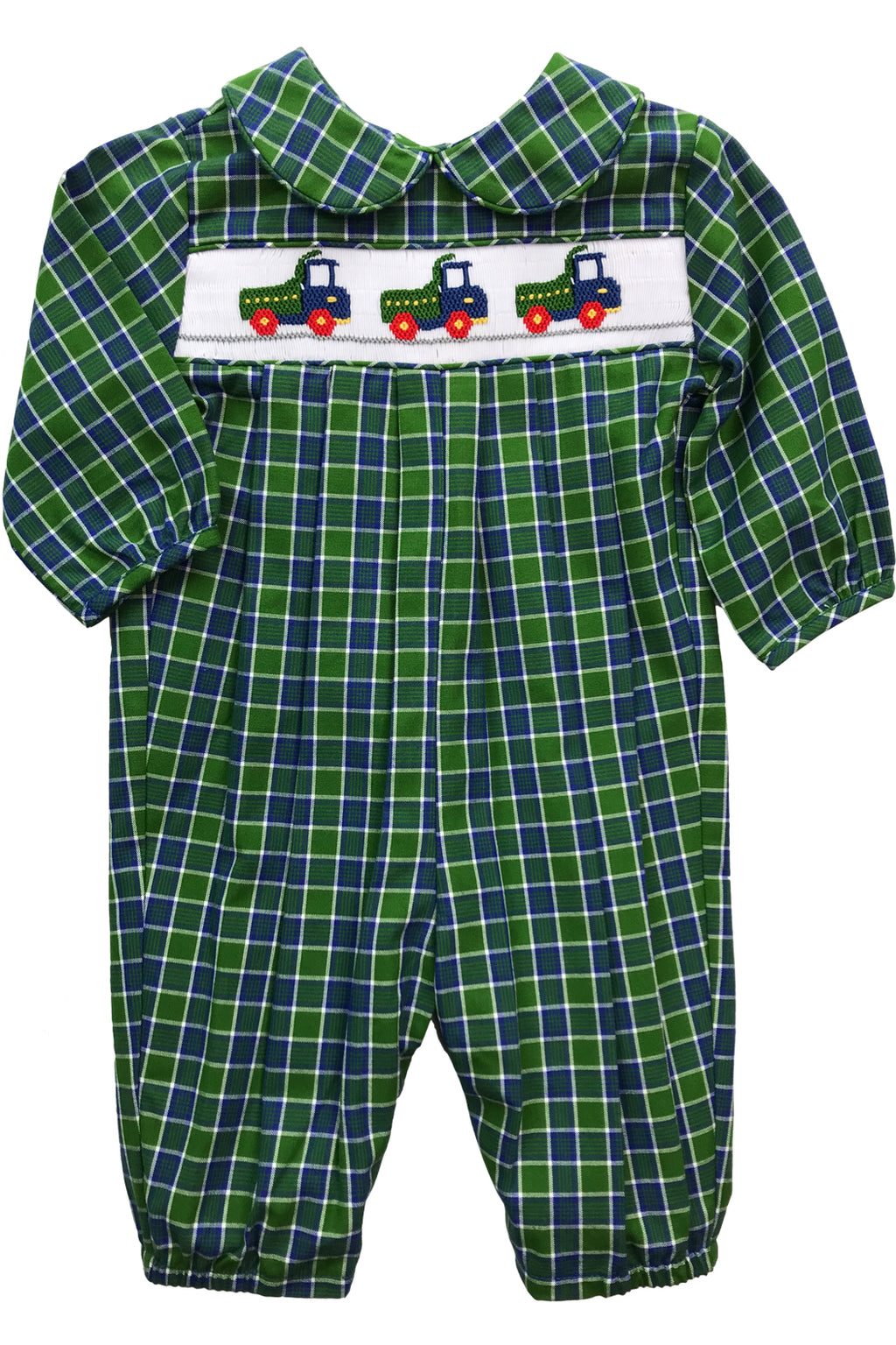 The Smocked Trucks Collection Boys Dressy Bubble Long (Long Sleeve)