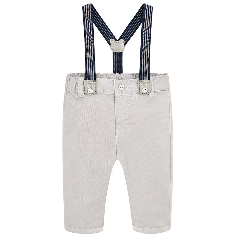 Stone Trousers with Suspenders