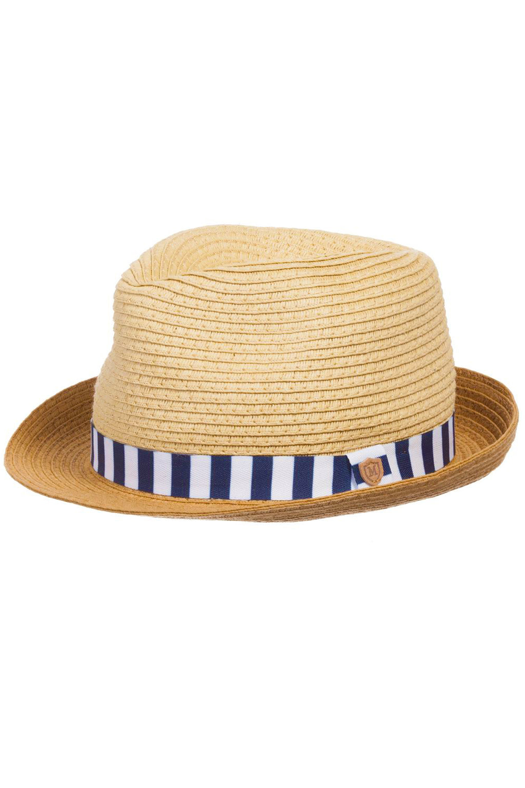 Mayoral - Straw Hat w/ Navy Stripe Trim - kkgivingtree - K&K's Giving Tree